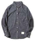 Fashion Style 100%Teinture de fils de coton tissé Tiny Plaid chemises pour hommes