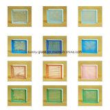 Bloco de vidro de parede colorida verde