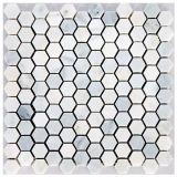 Плитка мозаики мрамора фонарика Carrara белая мраморный для ванной комнаты