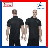 Healong中国の安い価格の衣類の高品質純粋なカラーポロシャツギヤ