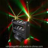8PCS 10W RGBW 4 in 1 indicatore luminoso capo mobile del fascio del ragno del LED