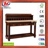 De houten Bank van het Werk met de Ondeugd van het Werk