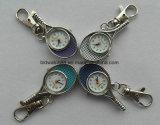 Tennis-Schläger-Form Keychain Uhr-kundenspezifische Metalschlüsselring-Uhr