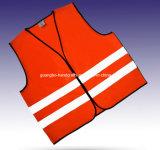 Hoge Douane 100% van het Zicht Vest van de Veiligheid van de Polyester het Weerspiegelende
