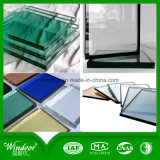 Doppio disegno della finestra del metallo della finestra del ferro della finestra di alluminio della parte esterna dell'oscillazione della lastra di vetro