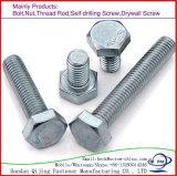 Galvanisierung-Hex Kopf-Schraube in der rostfreier/Kohlenstoff-Schraube DIN933