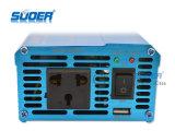 Suoer الصرفة موجة جيبية العاكس 300W الطاقة الشمسية العاكس 12V إلى 220V UPS تردد العاكس مع CE & بنفايات (الشركة العامة للفوسفات-300A)