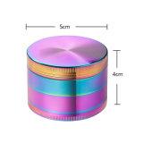 50mm Vier Delen verblinden de Molen van het Kruid van Allloy van het Zink van de Kleur