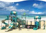 Campo de jogos plástico de Favovorite das crianças do tipo de Kaiqi com multi corrediças e atividades da aventura