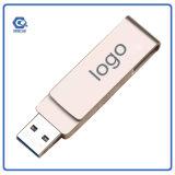 Портативный привод вспышки USB ручки памяти ключевого кольца металла