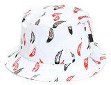 Kundenspezifische Qualitäts-Ebenen-weißer Baumwollwannen-Hut