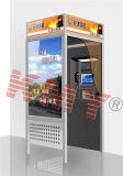 De muur zette de Automatische Bankwezen Gebruikte Kiosk van ATM met de Acceptor van de Rekening op