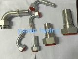 Adaptateur d'ajustement hydraulique en acier inoxydable DIN