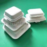 Сахарный тростник мякоти материал одноразовые лоток для бумаги для использования продуктов питания