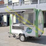 セリウム多機能の2販売のための側面のWindowsの青い普及した移動式食糧トラック