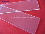 El panel cuadrado del vidrio de cuarzo del claro de la dimensión de una variable