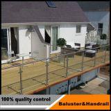 Residential Indoor balustrade en verre pour l'escalier de la main courante en acier inoxydable
