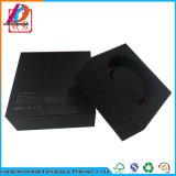 سوداء سمّاعة رأس هبة إلكترونيّة يعبر صندوق مع زبد ملحقة