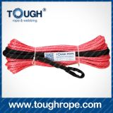 Diesel Winch Dyneema Synthetic 4X4 Winch Rope avec crochet Doublure en paquet emballée comme ensemble complet