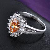 Grosser MITTLERER Steinzircon-Hochzeits-Form-Ring