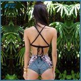 2017년 Hight 허리 비키니 2 조각 줄무늬 수영복 여성 수영복
