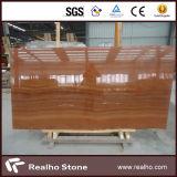 Lastre di marmo di legno rosse e mattonelle del grado per la pavimentazione
