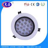 Materiale 6W montato rossoreare 12W 18W LED del corpo del tipo dell'elemento degli indicatori luminosi di comitato e della lampada dell'alluminio