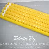 Maille jaune d'impression d'écran en soie