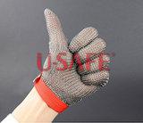 Handschoen van het Werk van het Netwerk van de Draad van de Besnoeiing van het Netwerk van het roestvrij staal de Anti Zelf - de Hulpmiddelen van de defensie