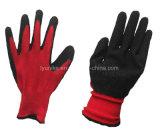 Black-Red Латексные перчатки из нейлона с покрытием