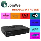 DVB-S2 + C + T2 Combo WiFi Récepteur satellite Herobox Ex4 HD