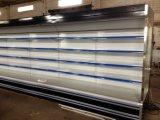 Supermarché réfrigérés Multideck affichage vertical ouvert le congélateur pour les fruits et légumes