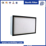 Mini-Plisser le filtre des fibres de verre H13 H14 de HEPA