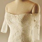 weg vom Schulter-Spitze Memraid Brauthochzeits-Kleid
