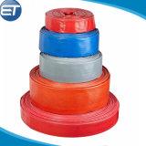 Manguera de descarga Lay-Flat de PVC con poli racores de bloqueo de leva