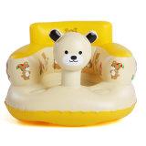 坐ることを学ぶか、または膨脹可能なPVCまたはTPUの赤ん坊の演じているピンクカラー赤ん坊シート