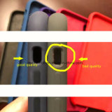 AppleのiPhone 8プラスX 7のための元のシリコーンの箱6 5 5s Seの本物カバー