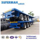 Remorque à plat de transport de tri camion de l'essieu 40FT à vendre