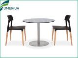 백색 색깔 멜라민 사각 상업적인 커피용 탁자