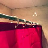 Tenda 100% di acquazzone del poliestere di colore rosso per la stanza da bagno