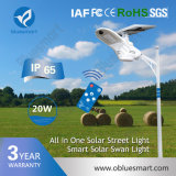 lámpara ligera al aire libre solar de la calle LED de 20W 3600lm