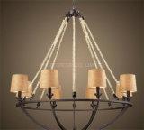 Metal y lámpara pendiente decorativos modificados para requisitos particulares hotel de la cortina de la tela