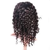 Peluca china llena del pelo de la Virgen del pelo humano del cordón el Wig/100%