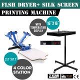 Station-Silk Bildschirm-Drucken 4 Farben-1 und greller Trockner