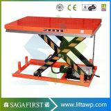 der 1.5m Static auf Boden industrieller Rolle Scissor Aufzug-Tisch