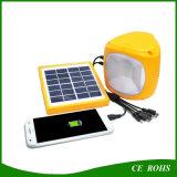 이동할 수 있는 비용을 부과를 위한 USB 포트를 가진 야영 빛을 하이킹하는 태양 비상등