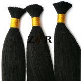 Massa brasiliana dei capelli umani di Remy del Virgin in azione