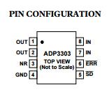 Circuit intégré ADP3303arz-5 des régulateurs de tension linéaires IC