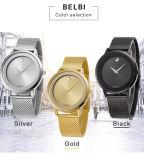 Orologio impermeabile del quarzo del metallo di vendita calda dell'OEM per la marca degli uomini Belbi