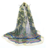 L'écharpe d'impression pour le châle de ressort de femmes enveloppe l'écharpe